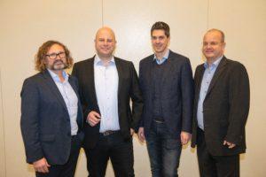 Die neue CeH4-Geschäftsleitung: v.l. Thomas Plocher, Florian Hupka, Michael Titz und Andreas Truttenbach. Foto: CeH4